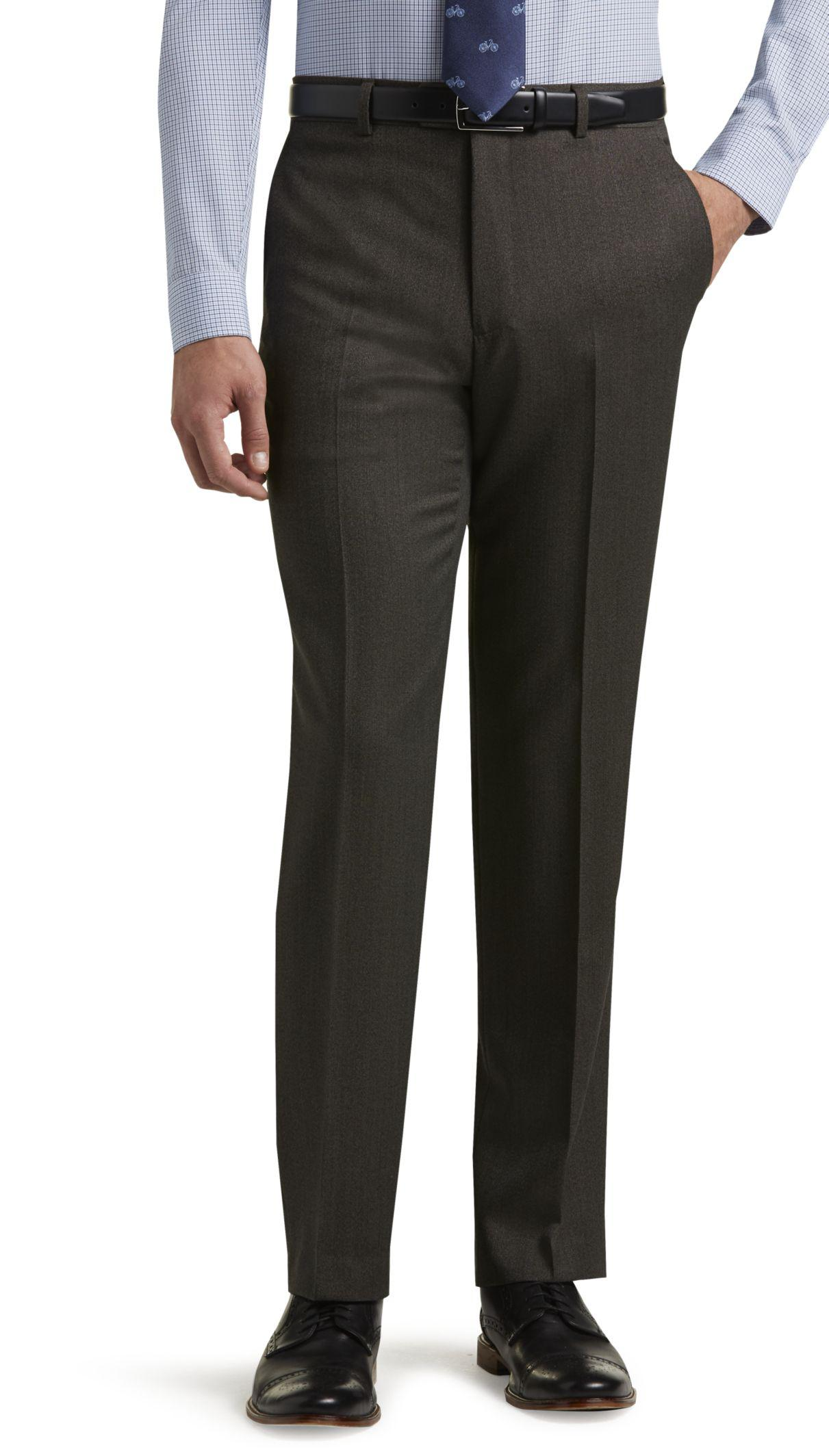 Men's dress pants in neutral colors are great for the workplace and will easily match your favorite men's shirts and loafers or Oxfords. Well-fitted chinos and khakis are .