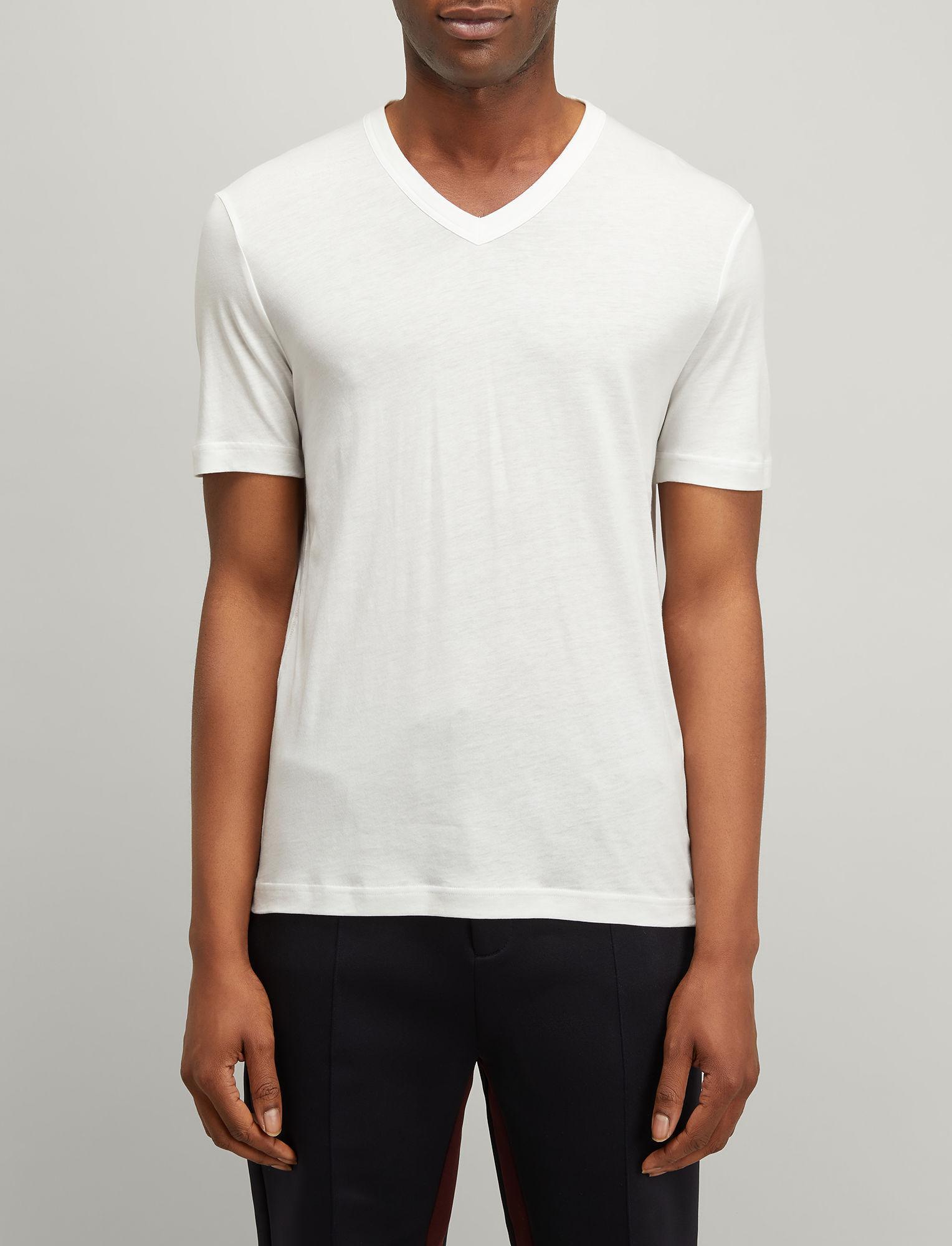 ede975317d0a Lyst - JOSEPH Lyocell Jersey V-neck Tee in White for Men