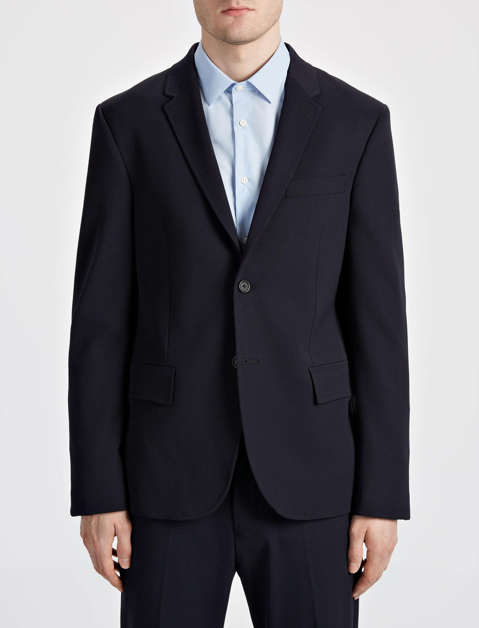 JOSEPH Techno Wool Stretch Halifax Suit in Navy (Blue) for Men