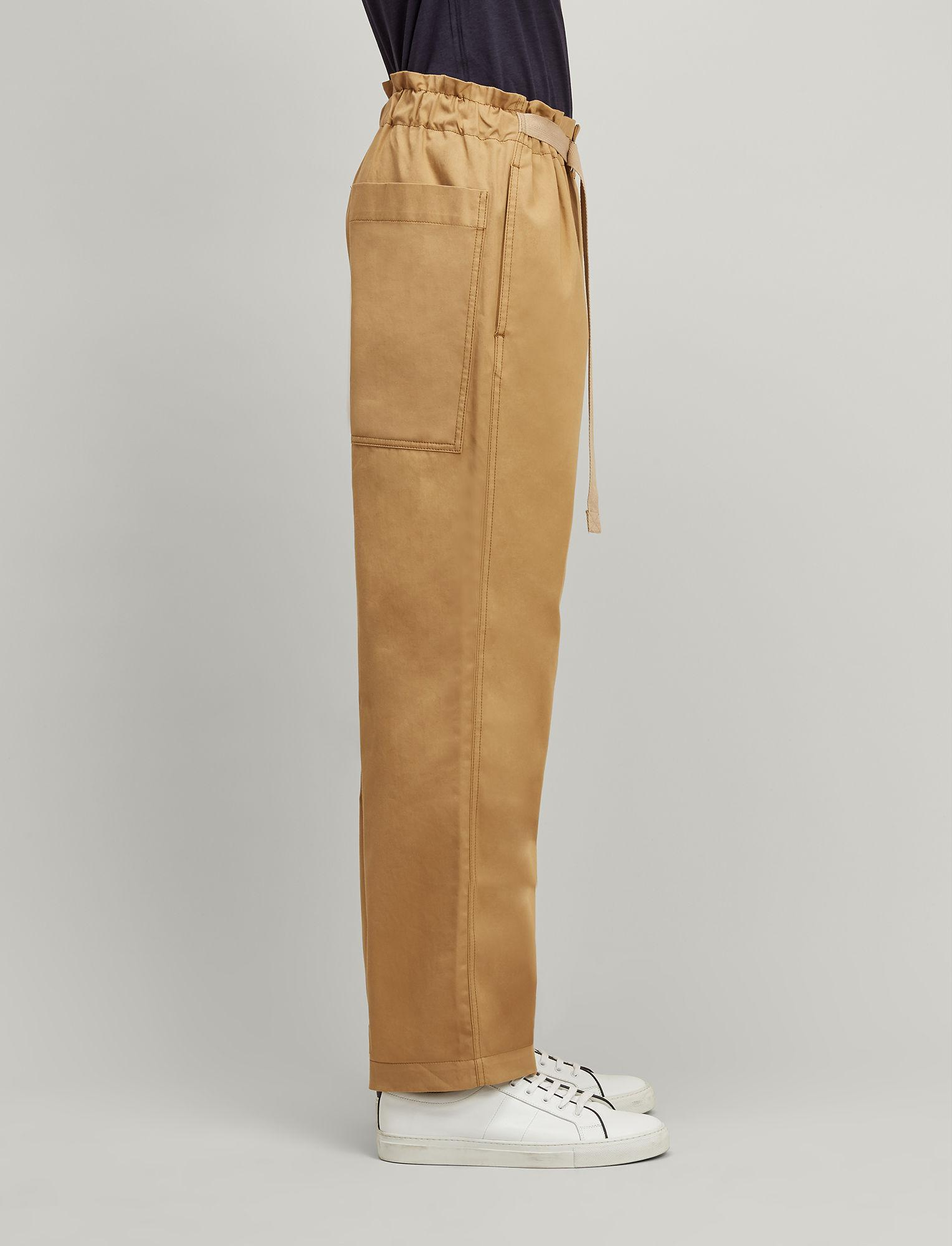 JOSEPH Cotton Twill Chino Luis Trousers in Camel (Natural) for Men