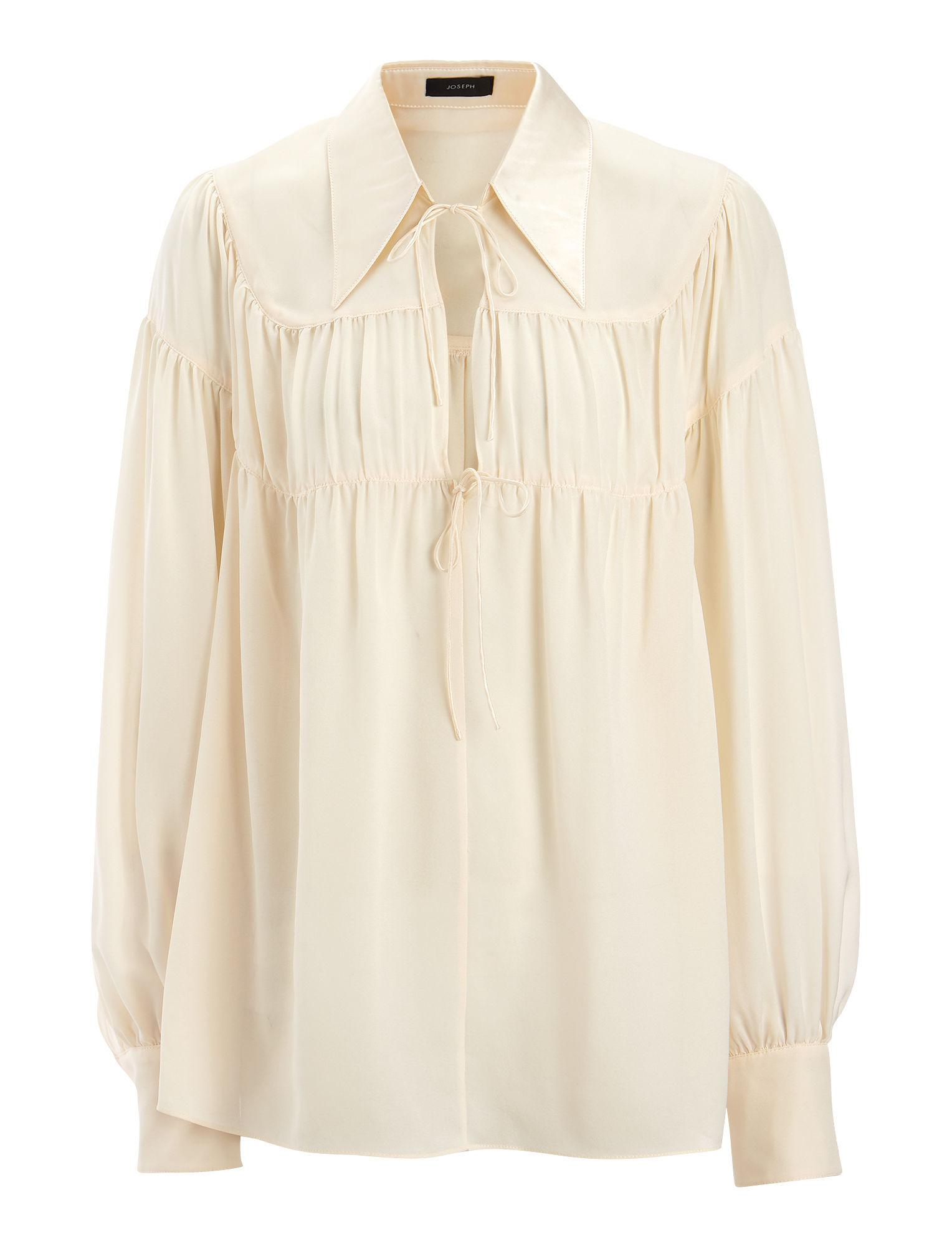 Crosby gathered silk-georgette blouse Joseph Free Shipping Cheap Price Quality Free Shipping Low Price Sale Authentic s54cQ