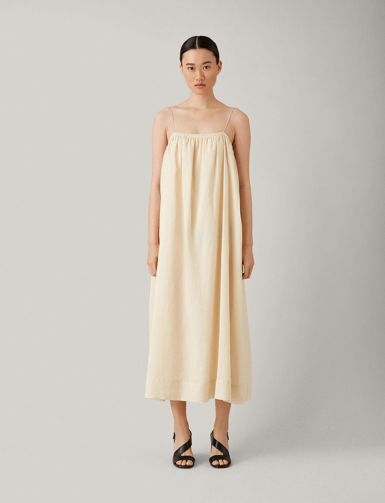 5f0a22e745f JOSEPH Tilda Ramie Voile Dress in Natural - Lyst