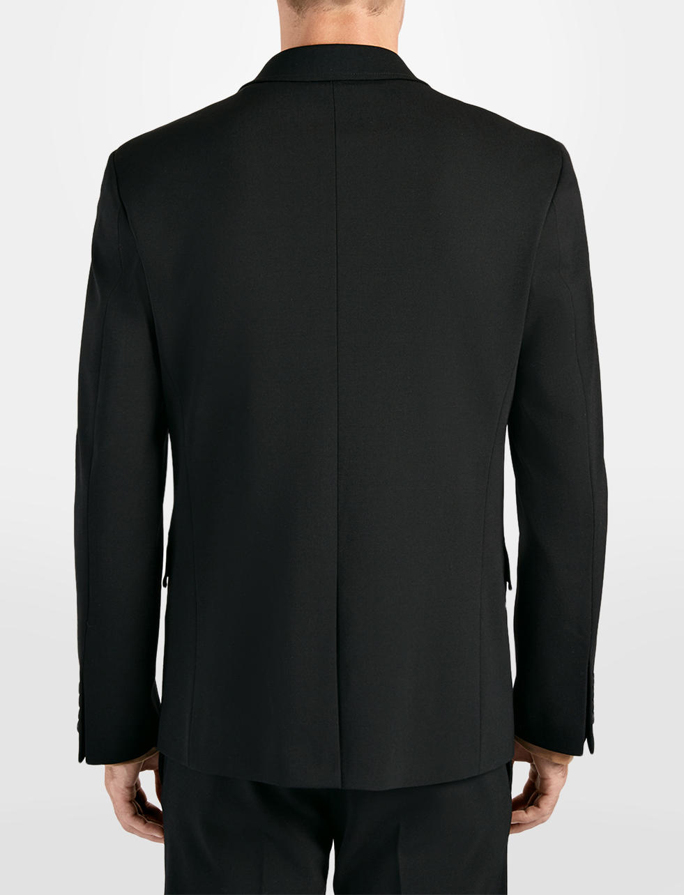 JOSEPH Techno Wool Stretch Reading Jacket in Black (Blue) for Men