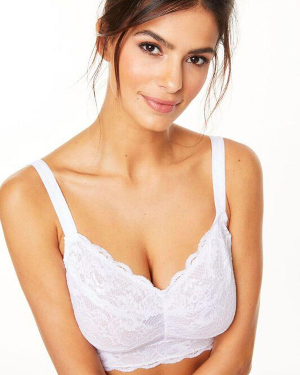 72eed61272 Lyst - Cosabella Never Say Never Curvy Sweetie Bralette in White
