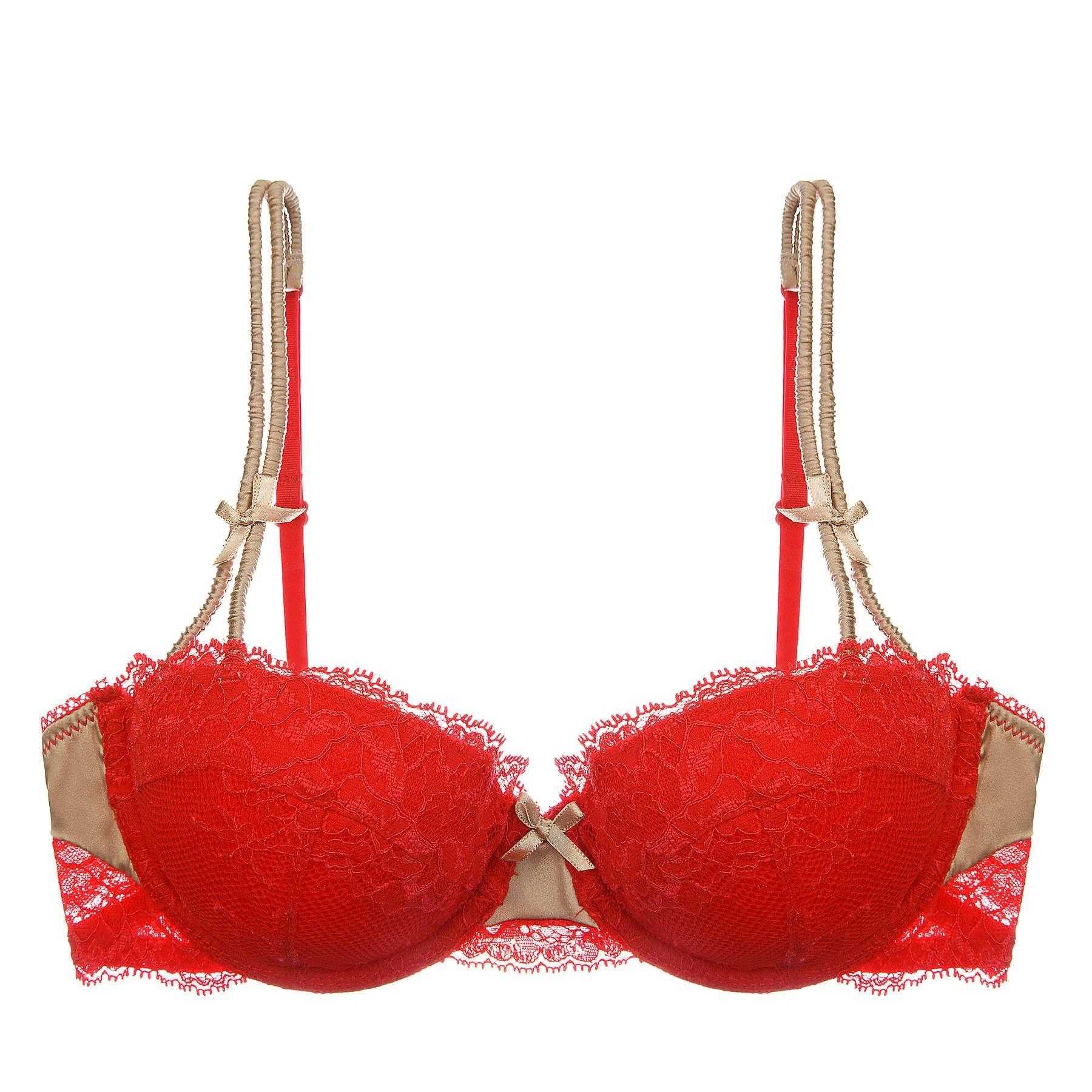 c3144b7486f18 Lyst - Heidi Klum Heat Wave Contour Balconnet Bra in Red
