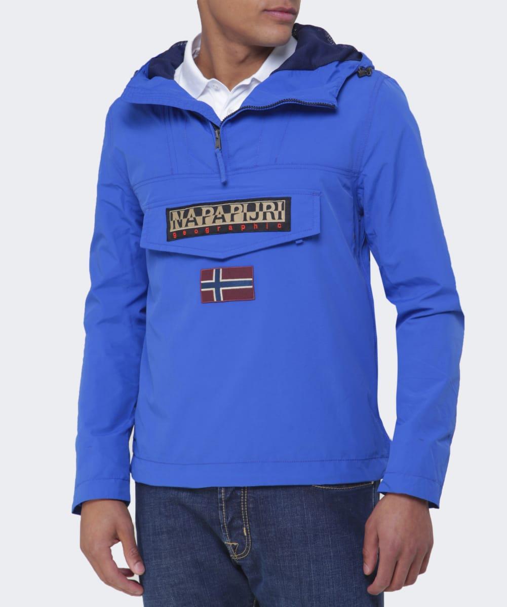 Napapijri Synthetic Hooded Rainforest Jacket in Blue for Men