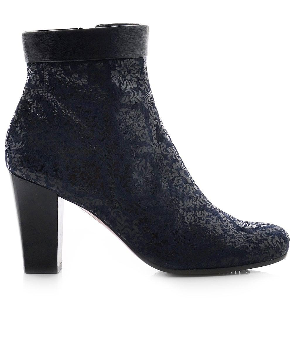 Chie Mihara Suede Abby Ankle Boots in Navy (Blue)