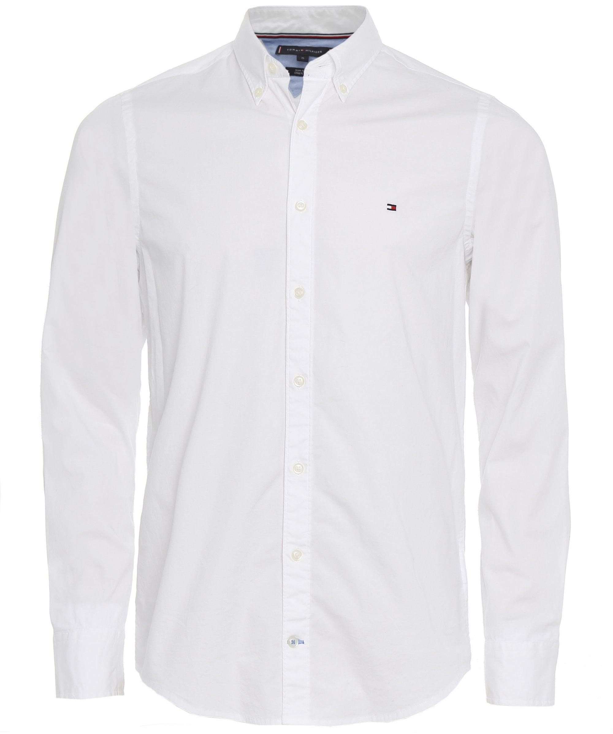 Tommy Hilfiger Slim Fit Poplin Shirt in White for Men - Save ... 49ce7d00ff7