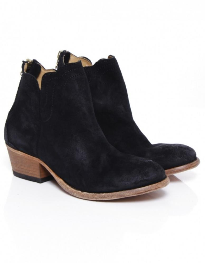 H by Hudson Mistral Suede Boots in Black