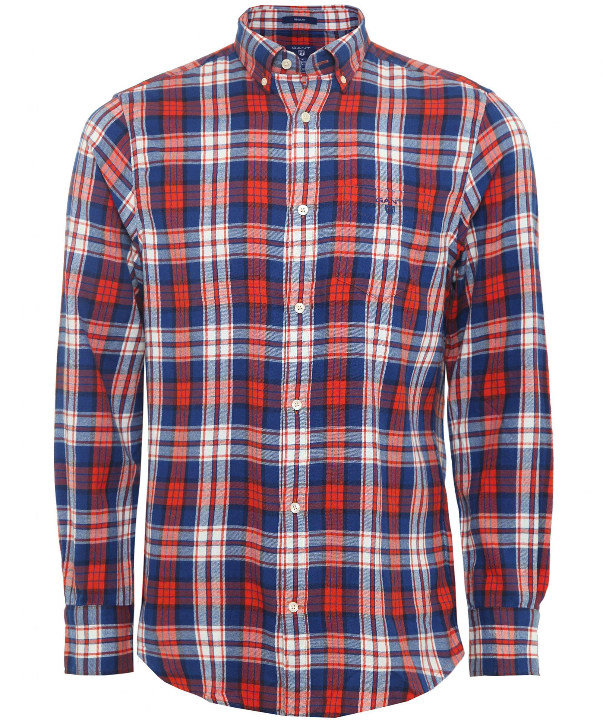 ff55d097af Lyst gant regular fit flannel plaid check shirt in blue for men jpg  2000x2395 Gant brushed