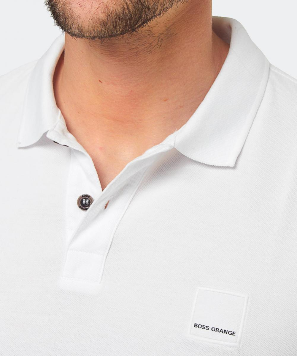 Lyst - Boss Slim Fit Pascha Polo Shirt in White for Men 818f3bd13ebdf