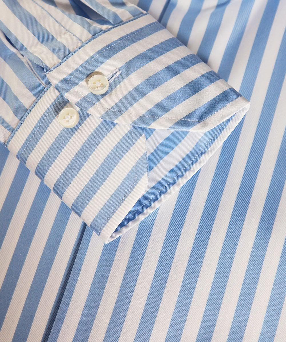 Stenstroms Cotton Fitted Striped Shirt in Blue for Men
