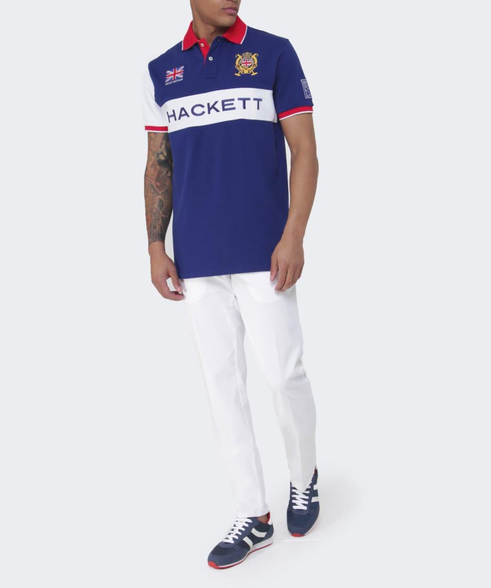 Hackett Cotton Gb Polo Shirt in Blue for Men