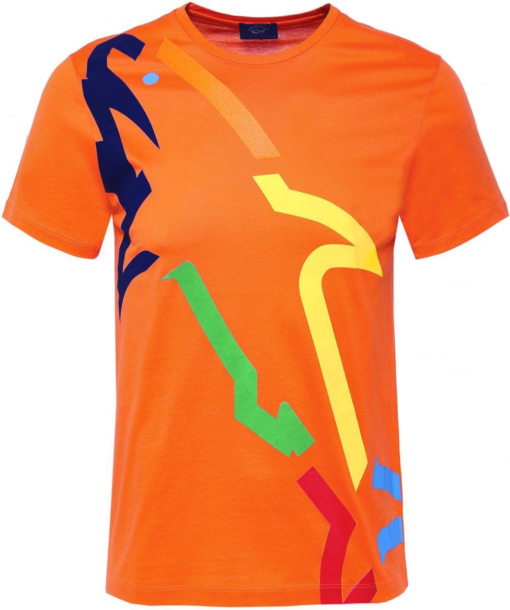 Buy paul and shark rainbow logo t shirt cheap online