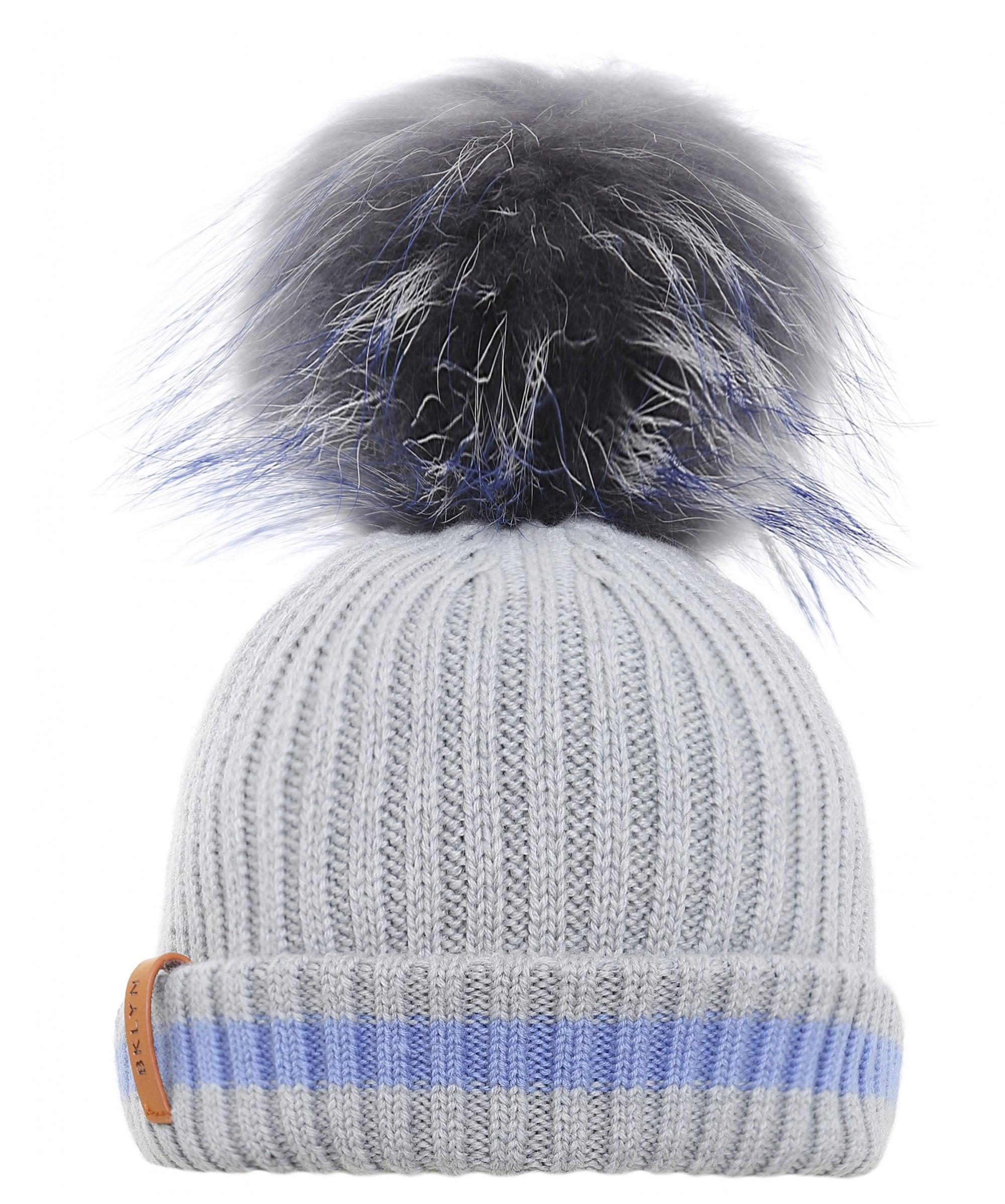 Lyst - Bklyn Merino Wool Beanie Bobble Hat in Gray a52d025b7e32