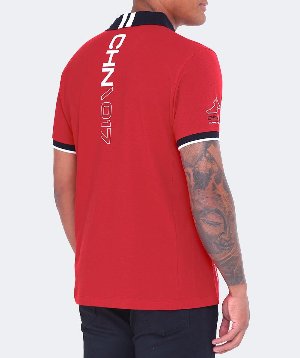 Hackett Cotton Slim Fit Amr China Polo Shirt in Red for Men