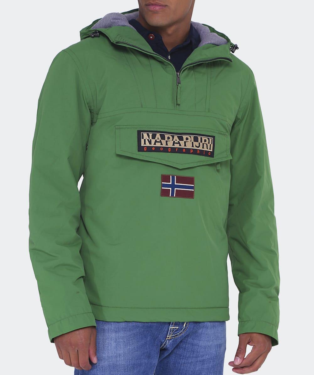 Napapijri Synthetic Rainforest Pullover Jacket in Green for Men