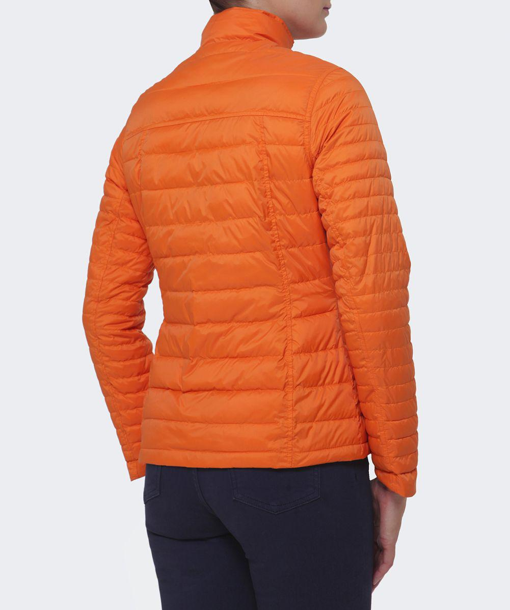 Barbour Chock Quilted Jacket In Marigold Orange Lyst