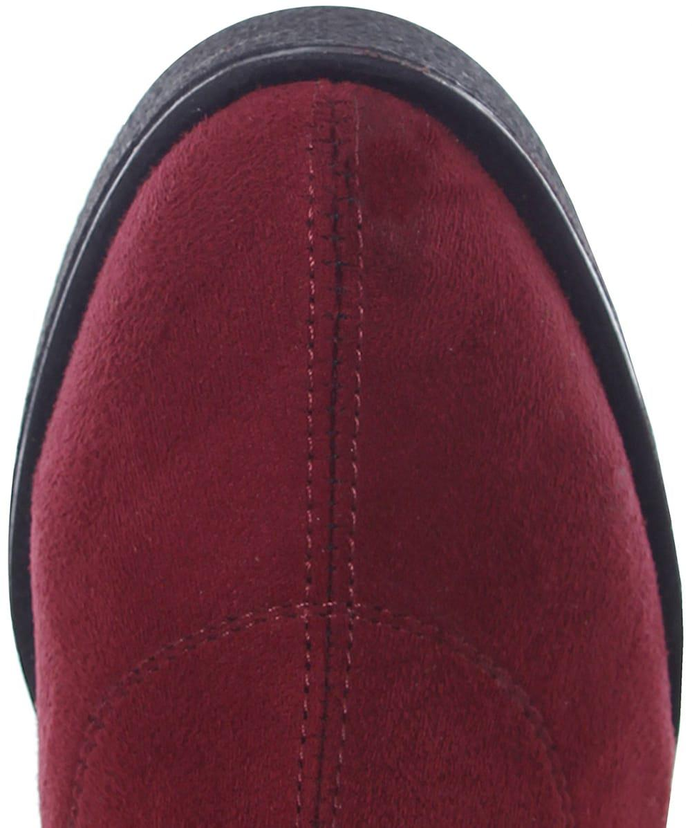 Inuovo Sappho Chunky Suede Effect Boots in Bordeaux (Black)
