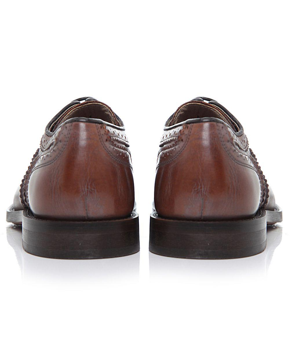 H by Hudson Heyford Calf Leather Brogues in Tan (Brown) for Men