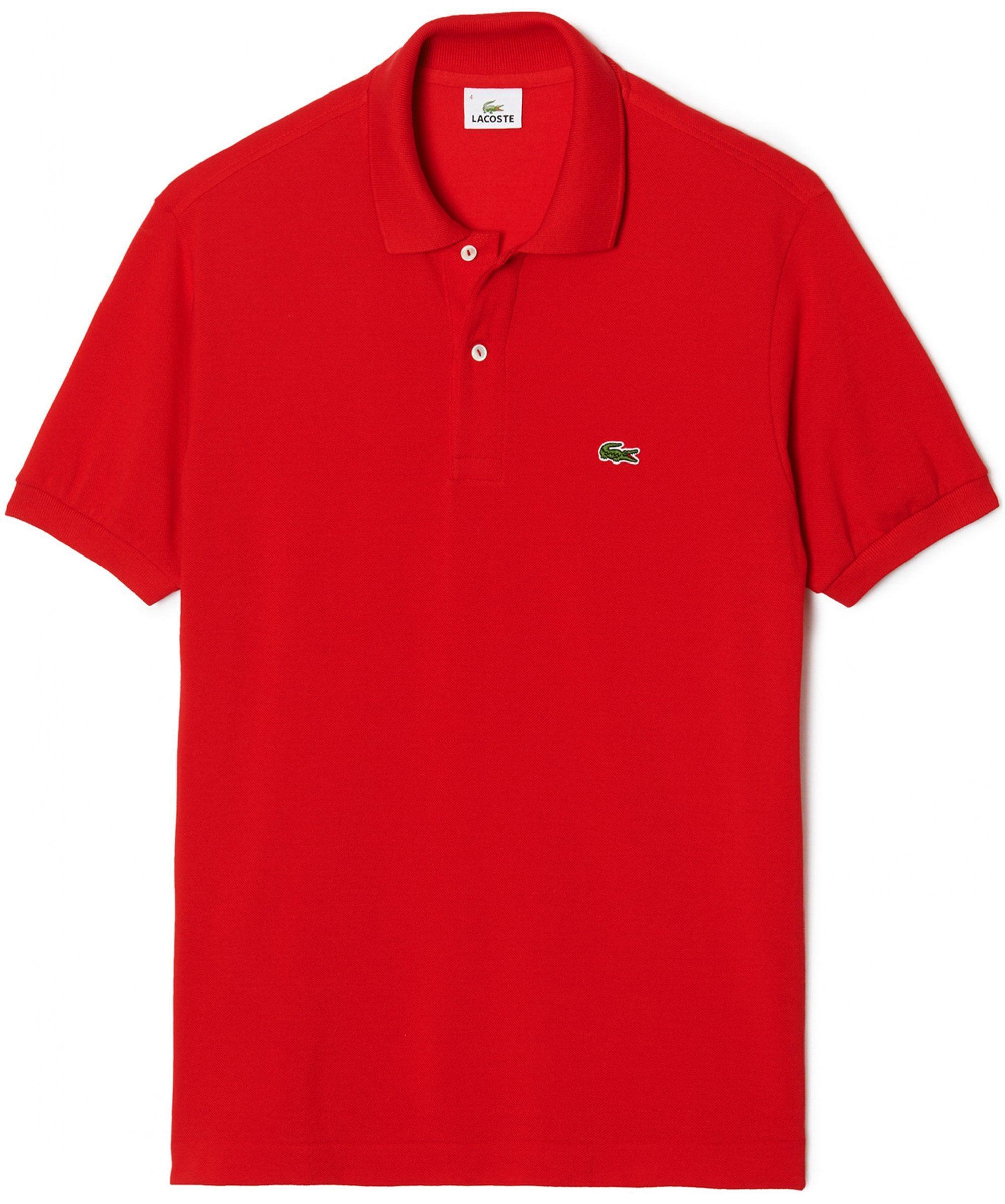 a34054ead9e482 Lacoste - Red Classic Fit Pique Cotton Polo Shirt for Men - Lyst. View  fullscreen