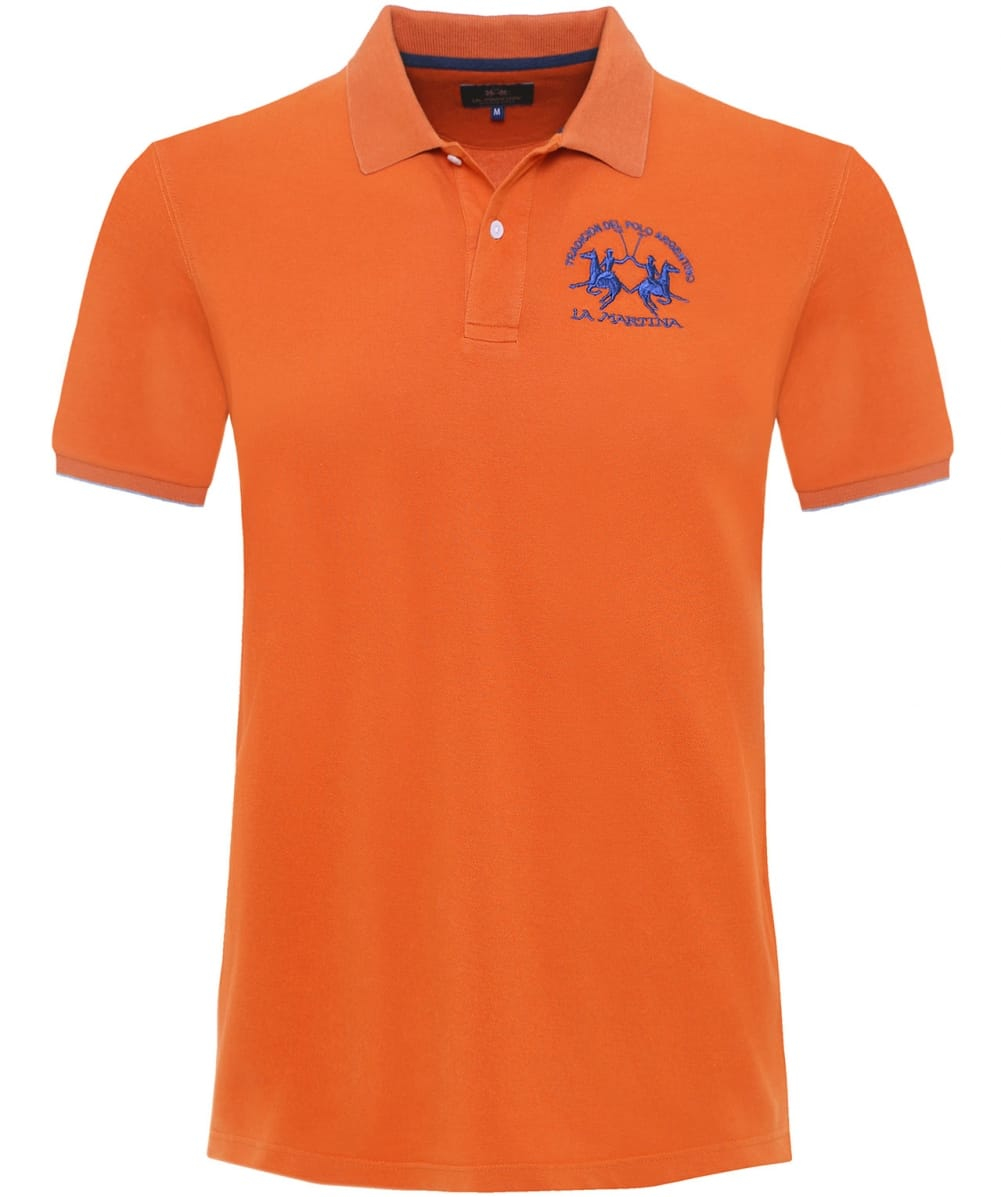 la martina slim fit miguel polo shirt in orange for men. Black Bedroom Furniture Sets. Home Design Ideas