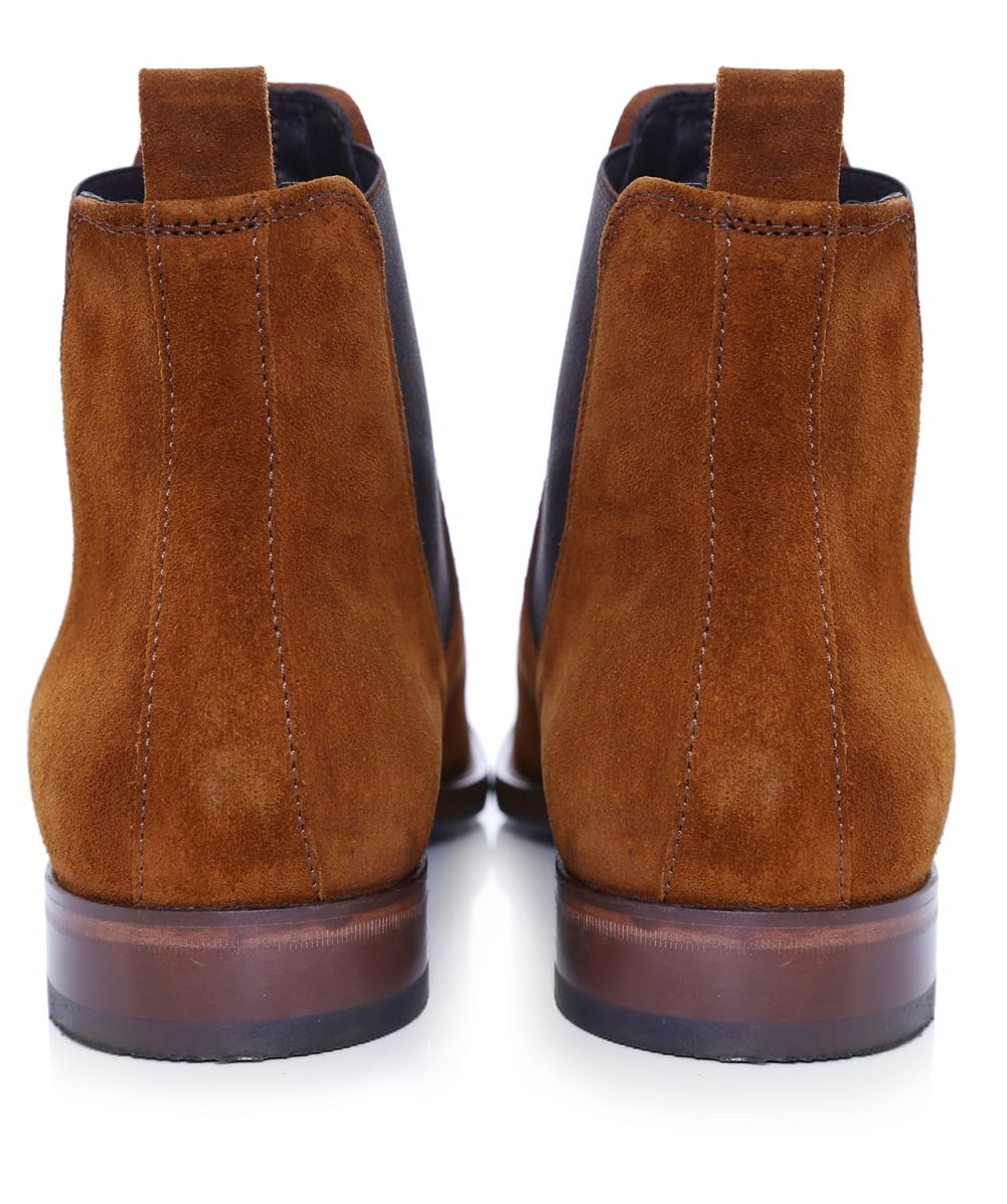 Jules B Suede Chelsea Boots in Tan (Blue)