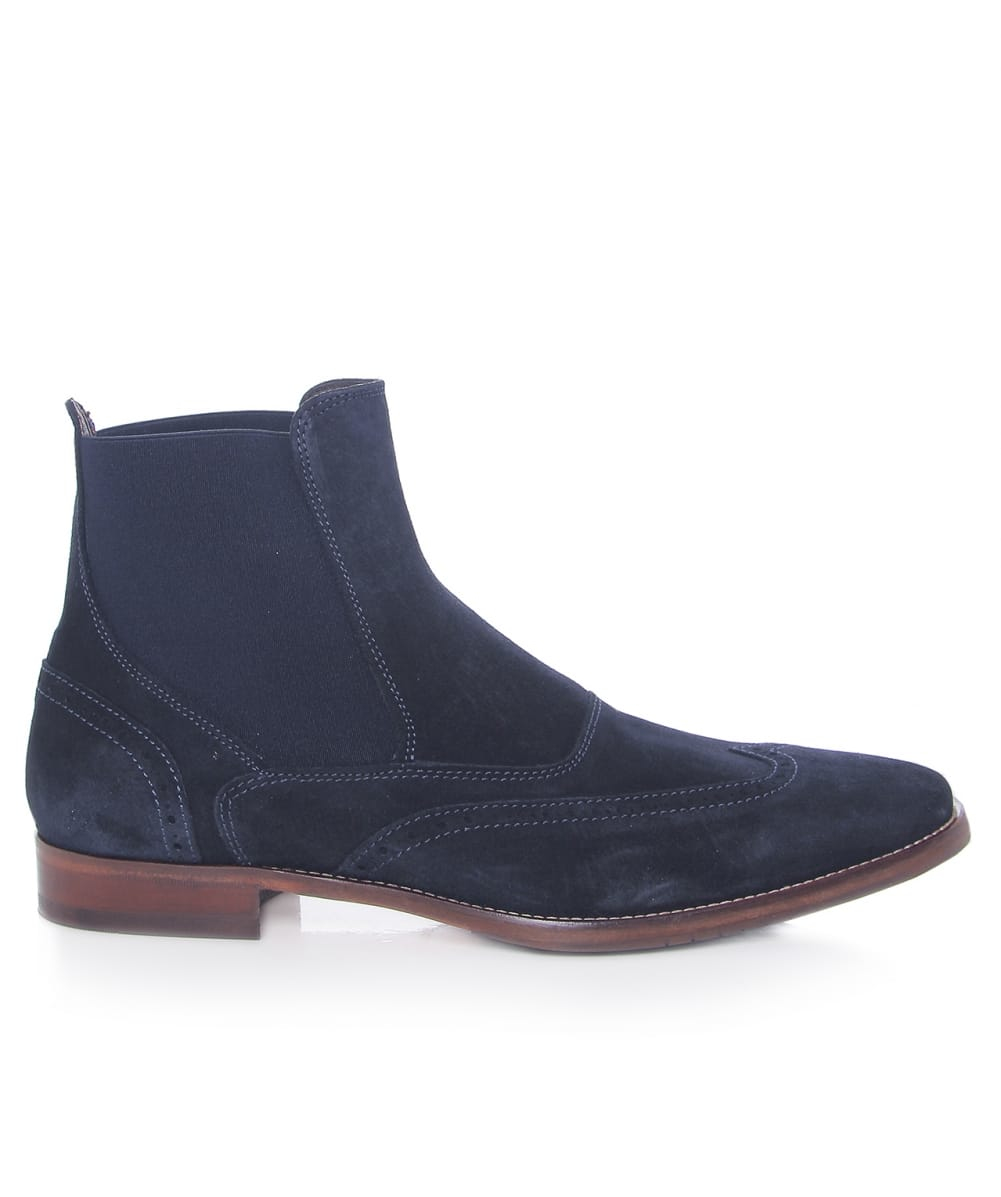 Jules B Suede Chelsea Boots In Blue For Men Lyst
