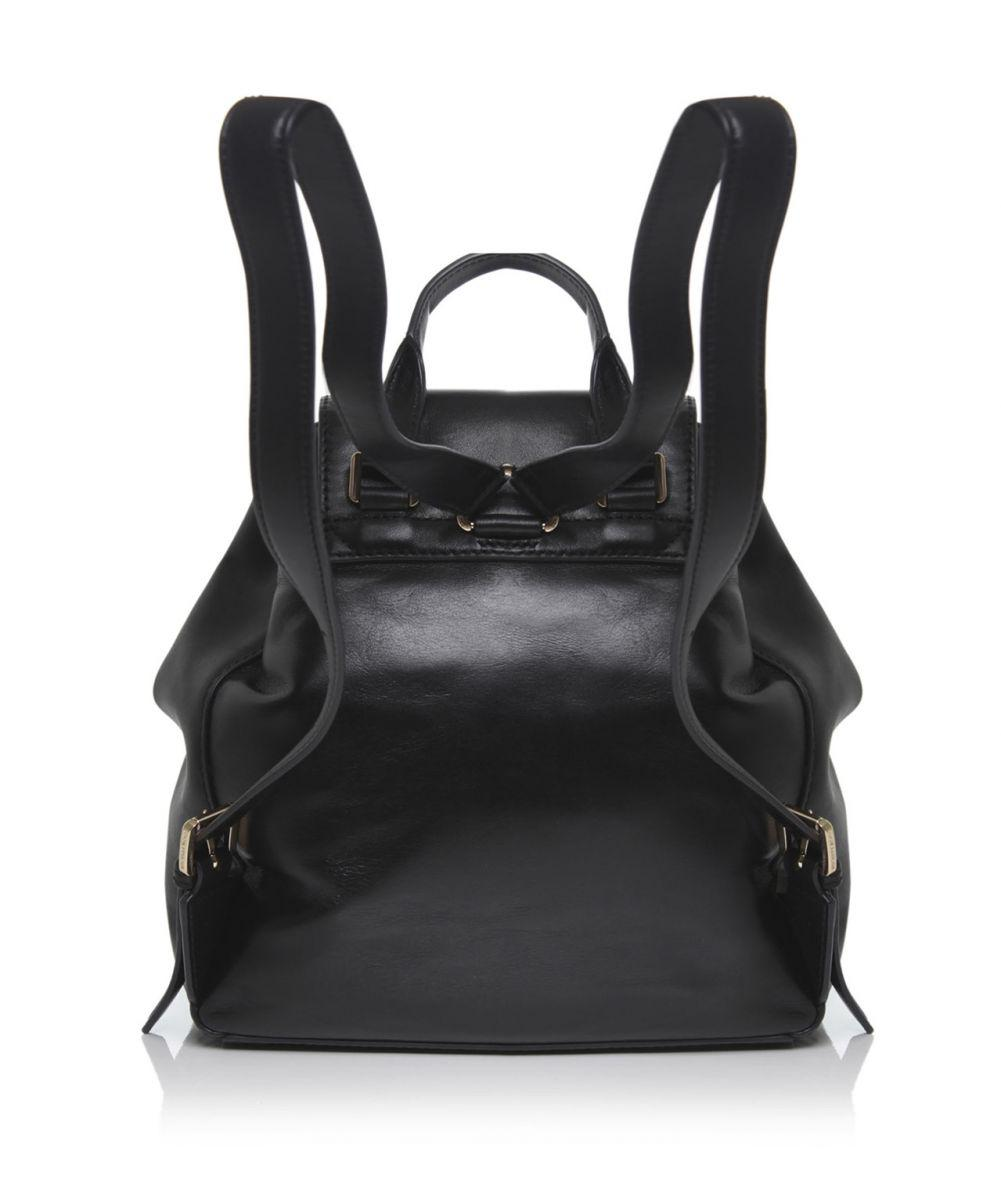 00fc3427fa1f MICHAEL Michael Kors Marley Drawstring Leather Backpack in Black - Lyst
