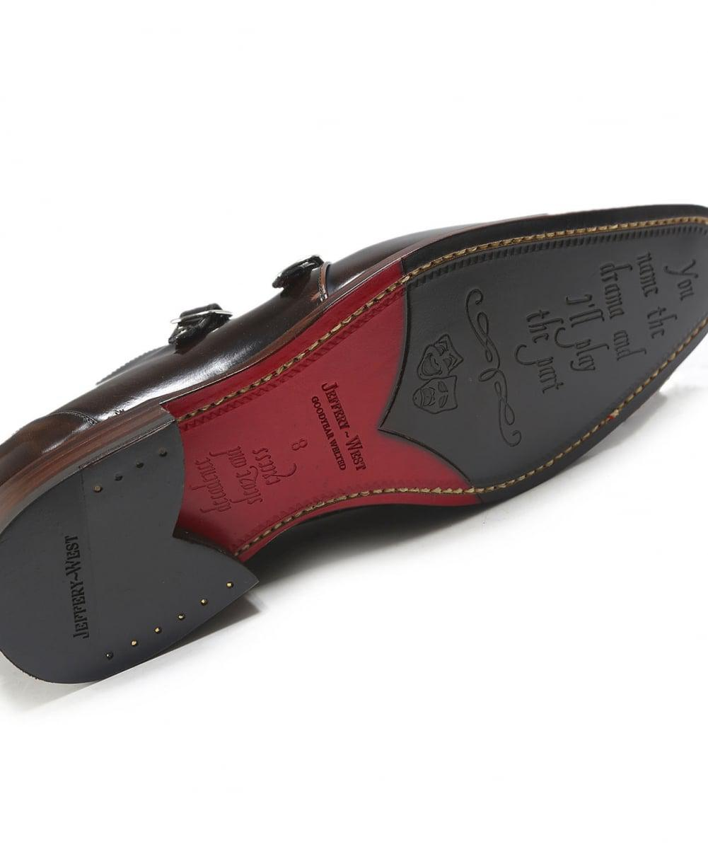 Jeffery West Leather Double Monk Blood Hunger Shoes in Espresso (Brown) for Men