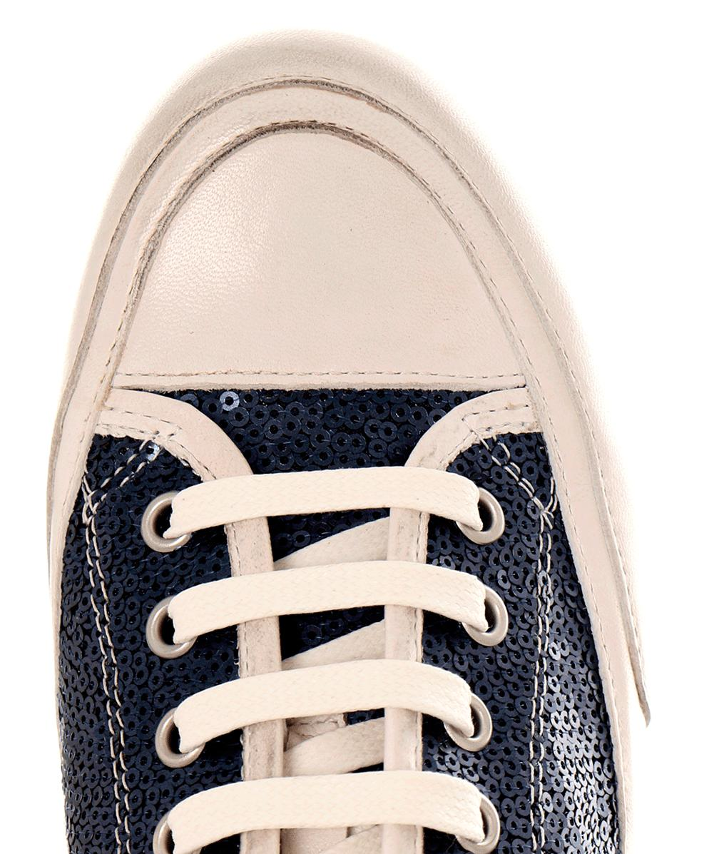 Candice Cooper Rubber Rockbord Sequin Low Top Trainers in Blue