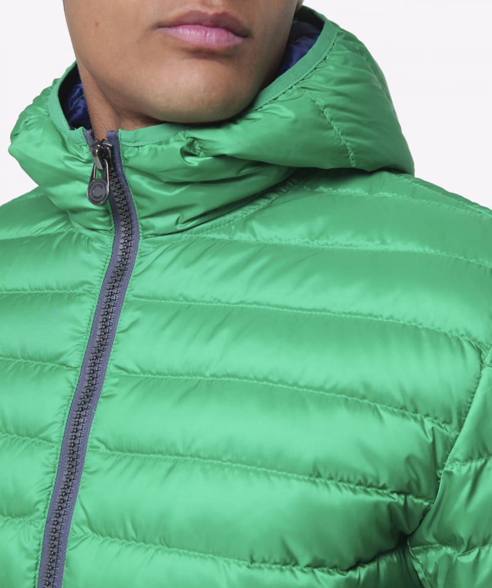 Colmar Synthetic Hooded Light Down Jacket in Mint (Green) for Men