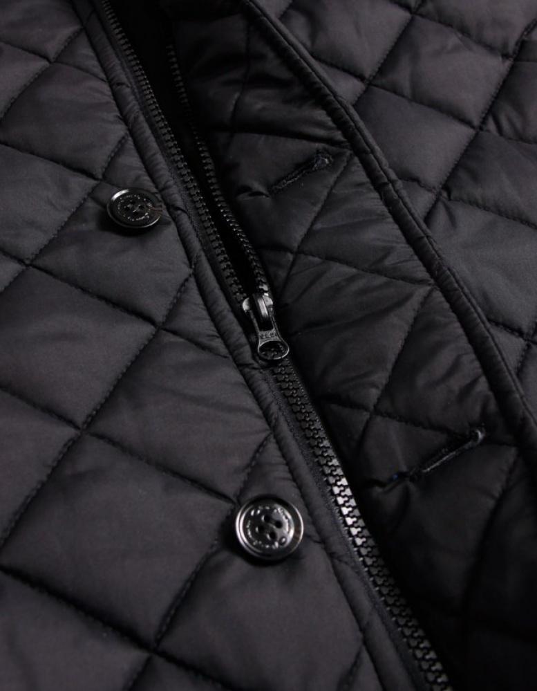 Oliver Sweeney Denim Squire Quiltedjacket in Black for Men