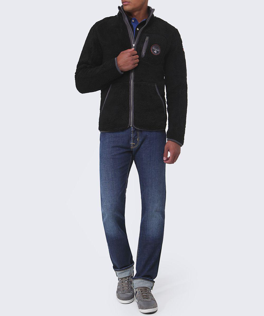 Napapijri Yupik Fleece Jacket in Black for Men