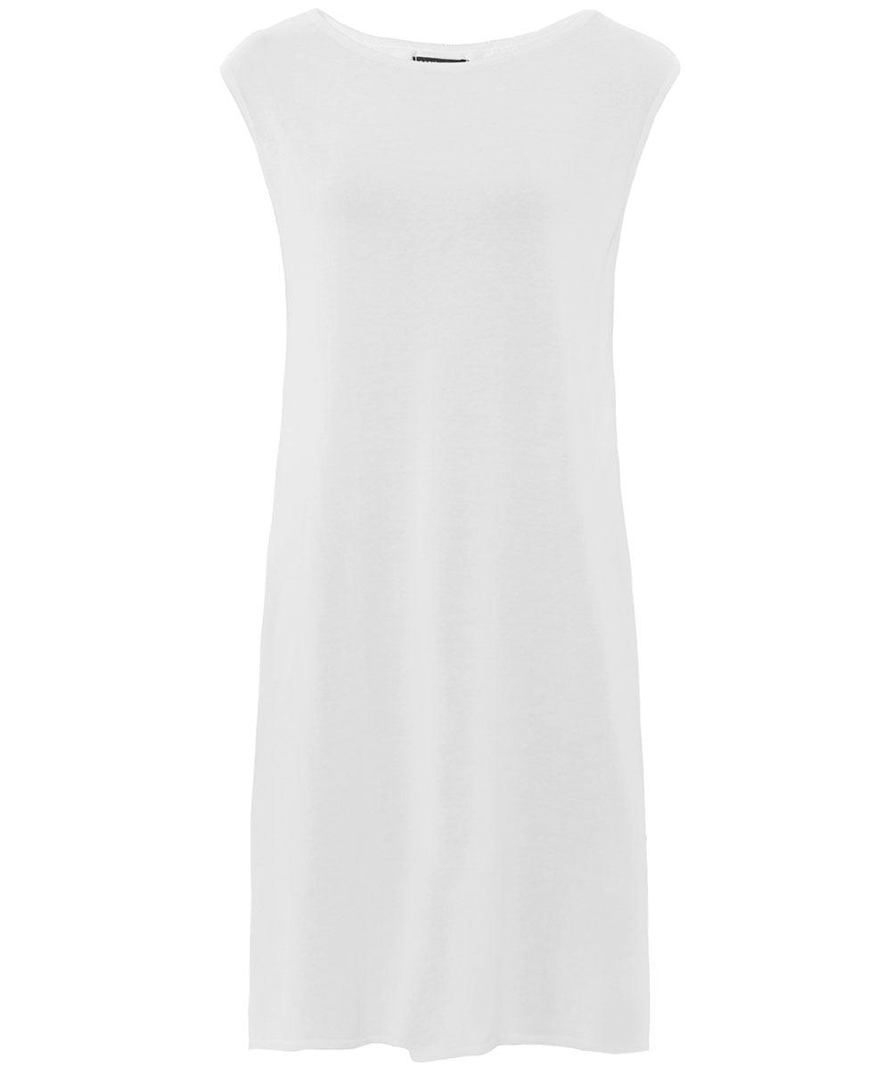 4648834753 Lyst - Sarah Pacini Sheer Side Slit Tunic Top in White