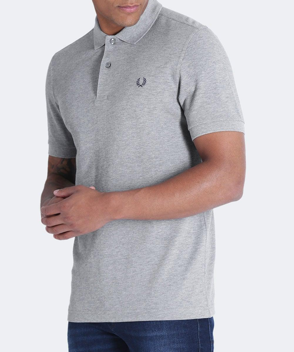 Fred Perry Cotton Pique M6000 Polo Shirt in Steel Marl (Grey) for Men
