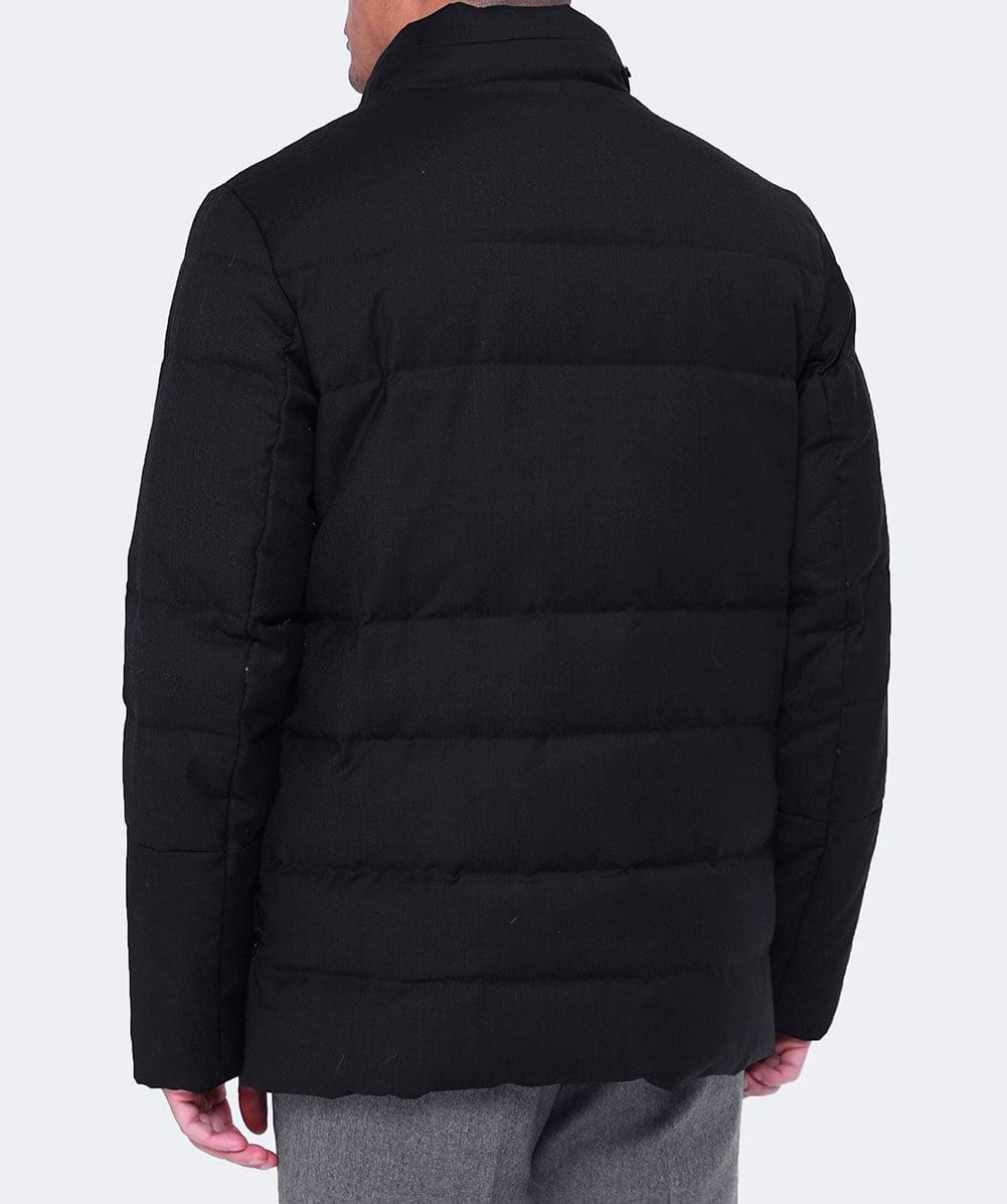 Corneliani Wool Padded Down Jacket in Dark Grey (Grey) for Men