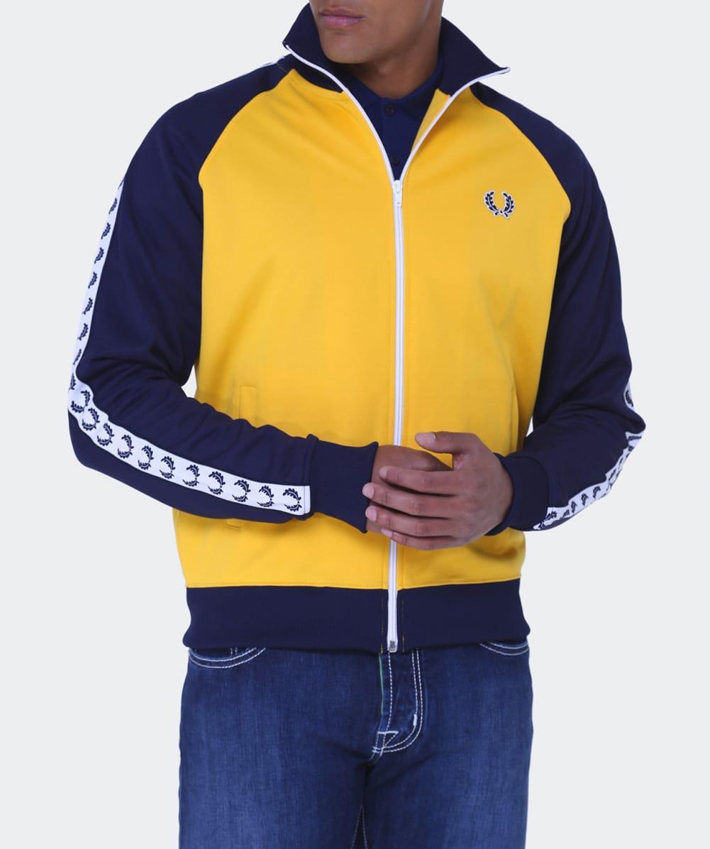 varm produkt special för sko erkända varumärken Fred Perry Synthetic Laurel Tape Track Jacket in Yellow for Men - Lyst