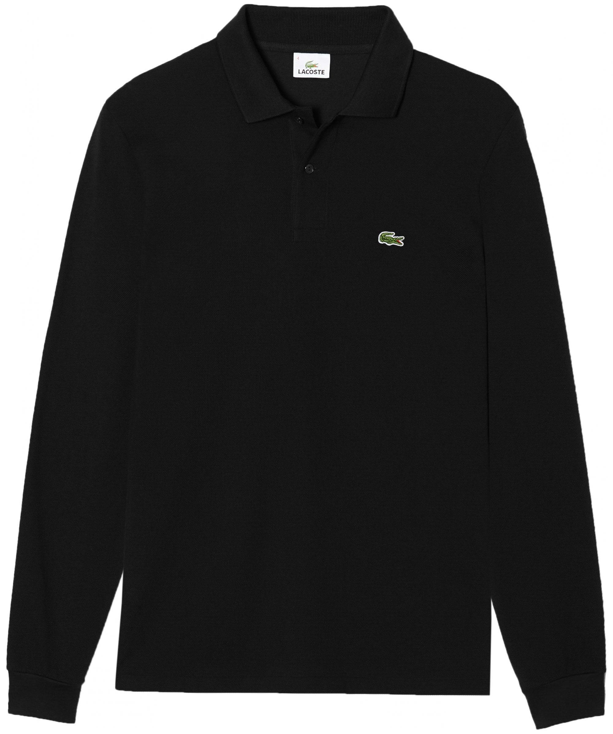 2f5f34743d6d9 Lacoste - Black Classic Fit Long Sleeve Polo Shirt for Men - Lyst. View  fullscreen