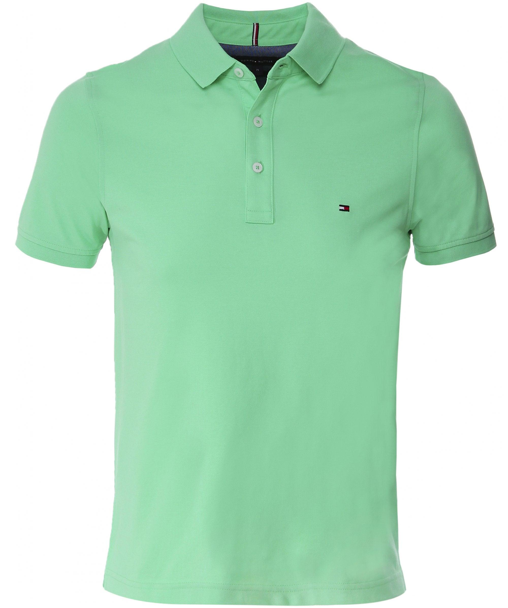 4bfdb4cfc42 Tommy Hilfiger Slim Fit Pique Polo Shirt in Green for Men - Lyst