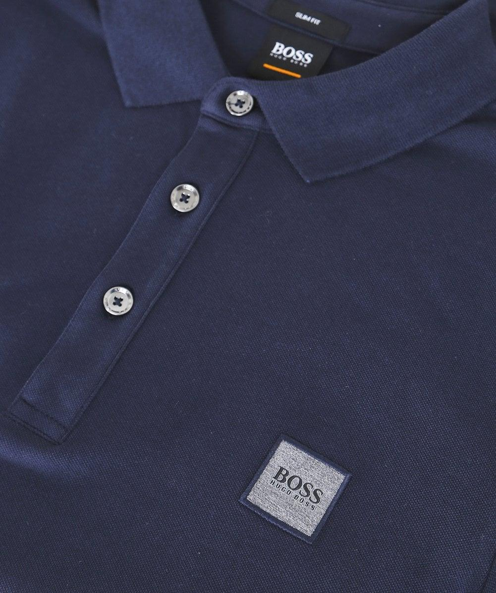 6e598e28 Lyst - BOSS Long Sleeve Passerby Polo Shirt in Blue for Men - Save 36%
