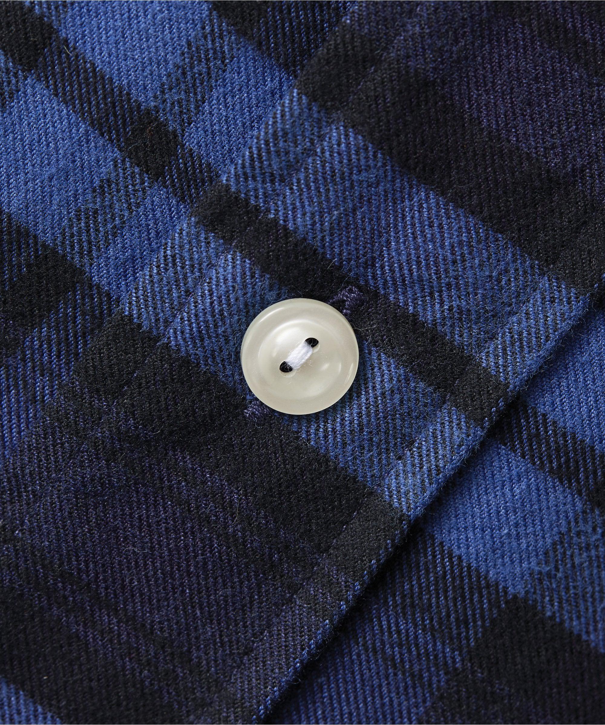 fd6b7a8212c Eton of Sweden Slim Fit Plaid Flannel Shirt in Blue for Men - Save  15.17857142857143% - Lyst
