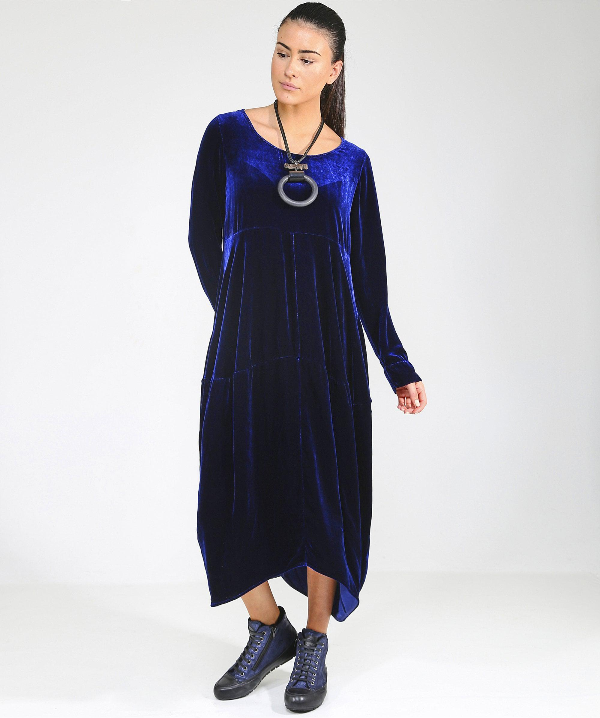 cd19379f659 Lyst - Grizas Panelled Layer Dress in Blue