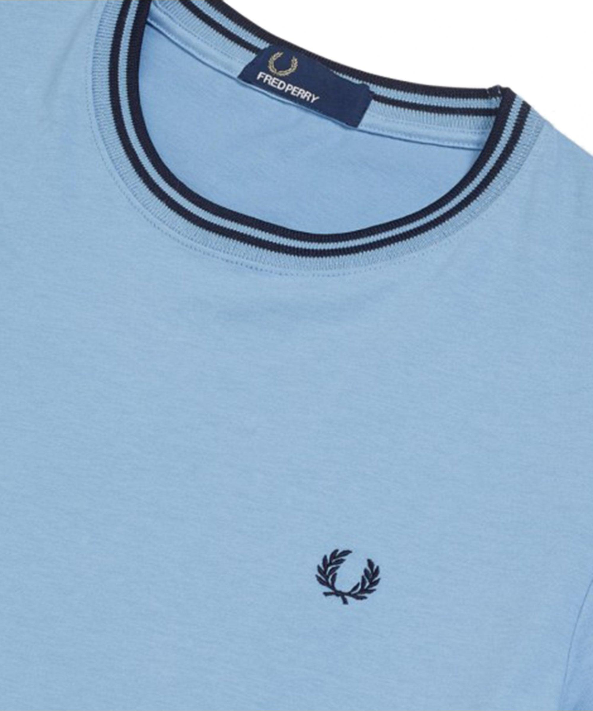 bbe969edb Fred Perry - Blue Twin Tipped T-shirt M1588 444 for Men - Lyst. View  fullscreen