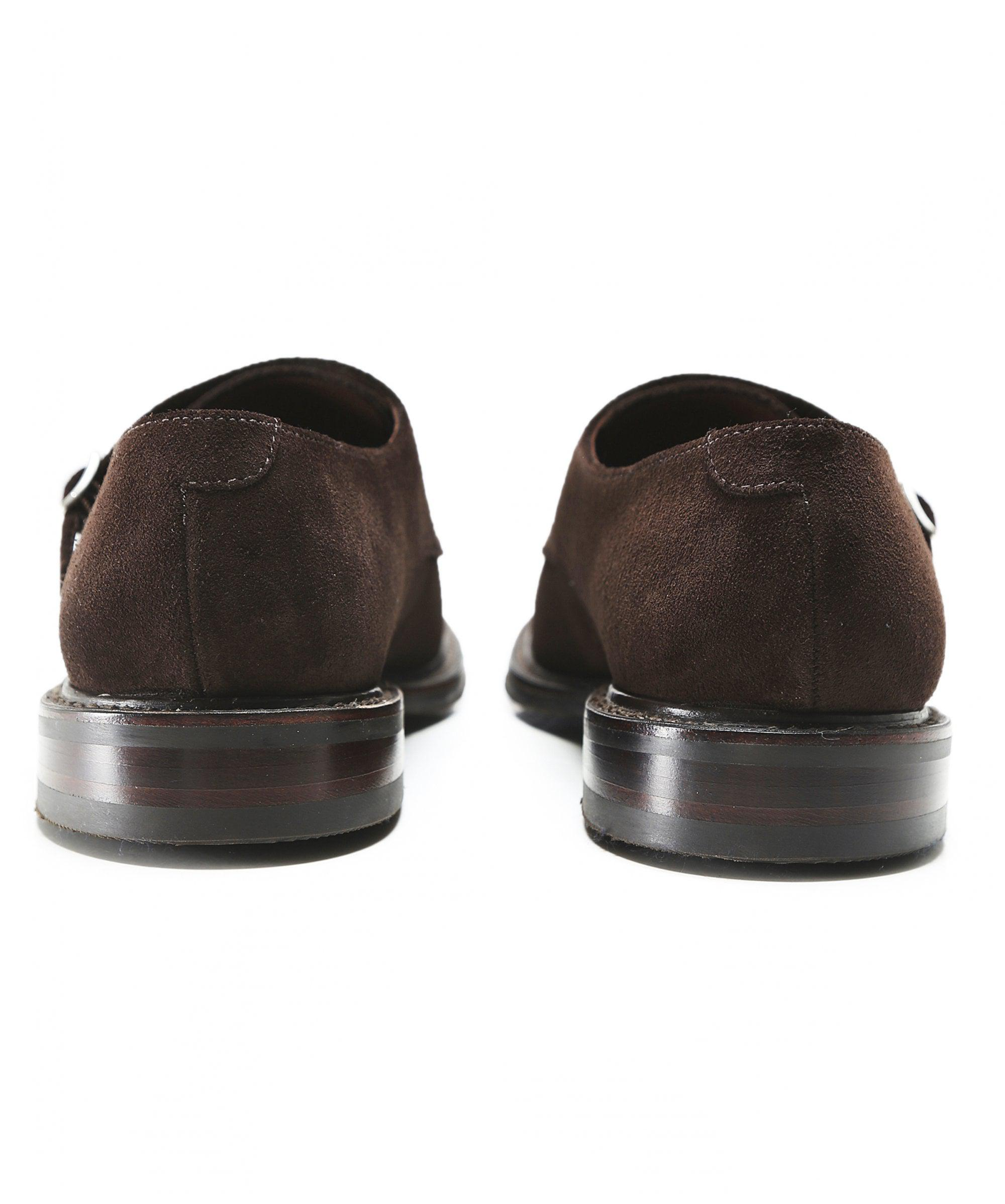 Loake Suede Benedict Monk Strap Shoes