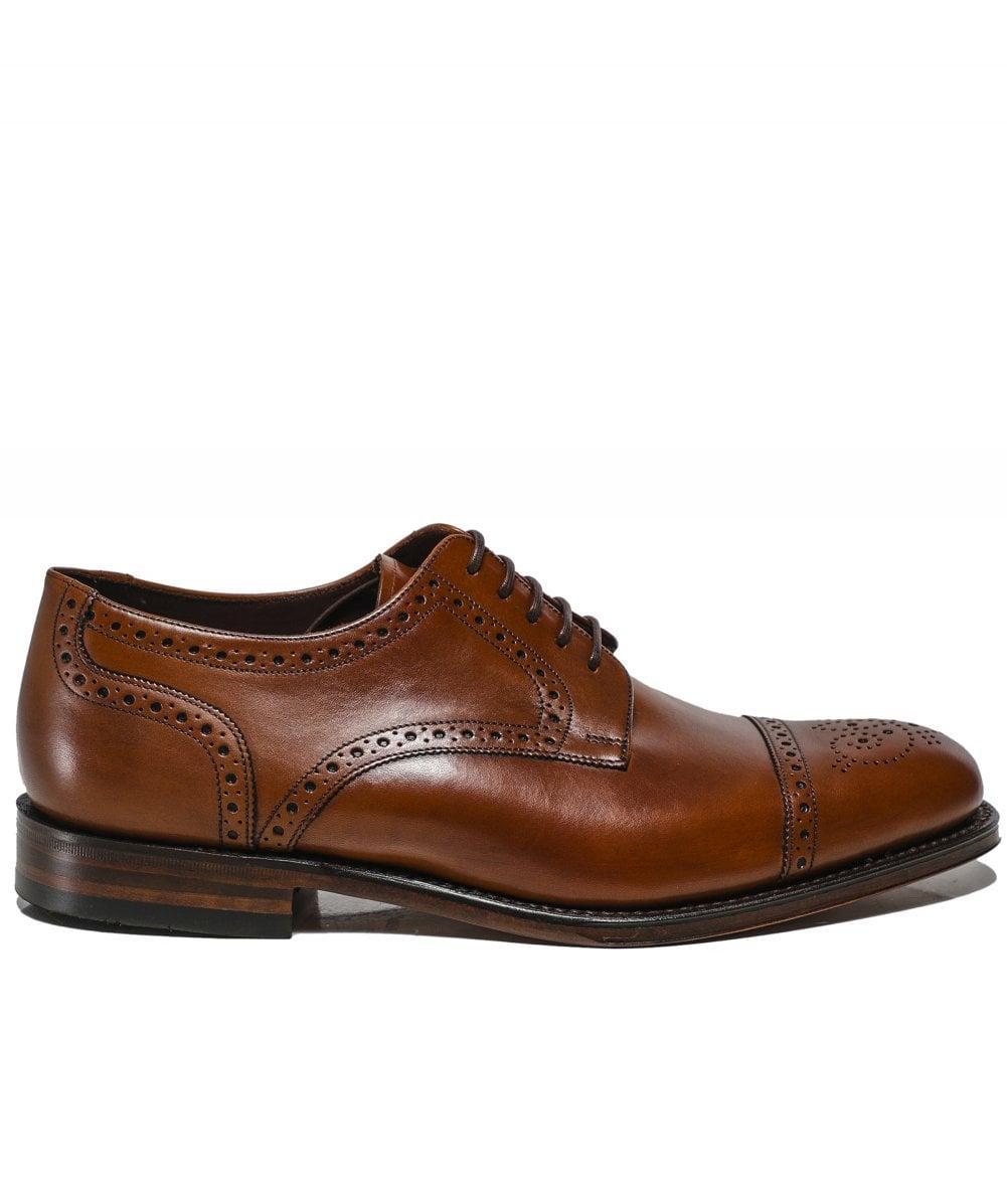 Leather Nuffield Derby Shoes Loake pour homme en coloris Marron