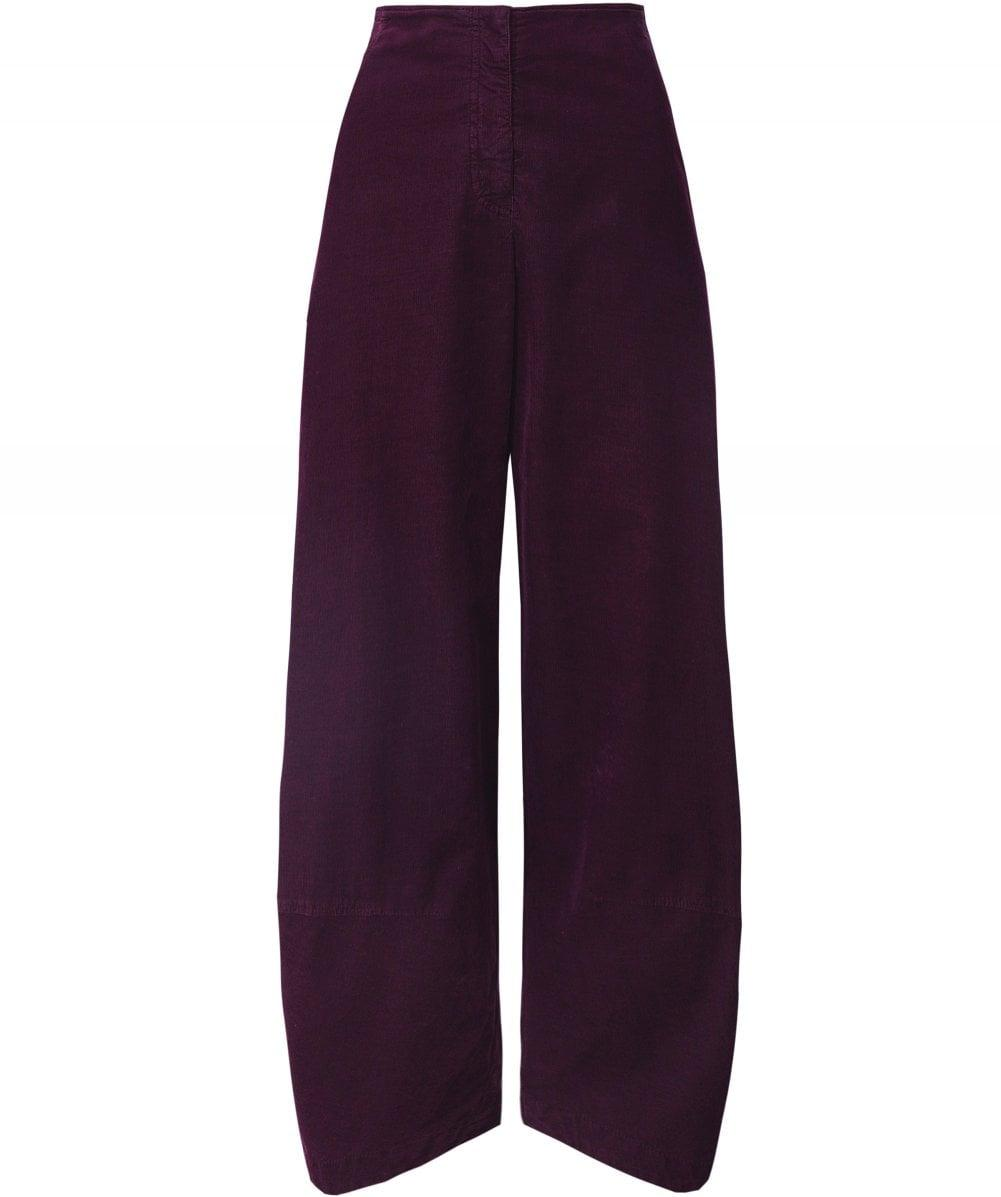 Birthe Corduroy Trousers Oska en coloris Violet