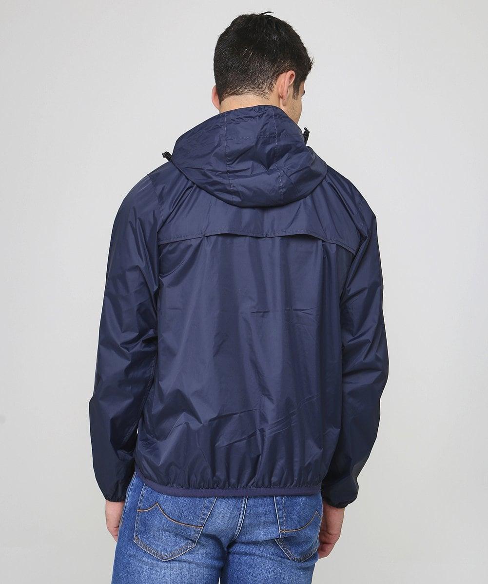 K-Way Synthetic Water Resistant Half-zip Le Vrai Leon 3.0 Jacket in Blue for Men