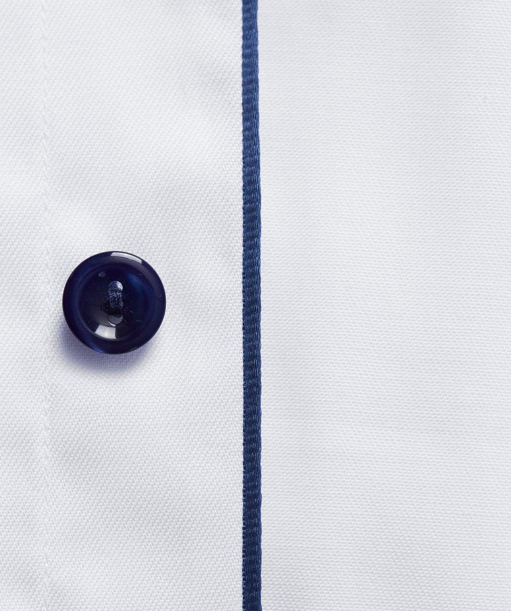 Eton of Sweden Cotton Contemporary Fit Twill Shirt in White for Men
