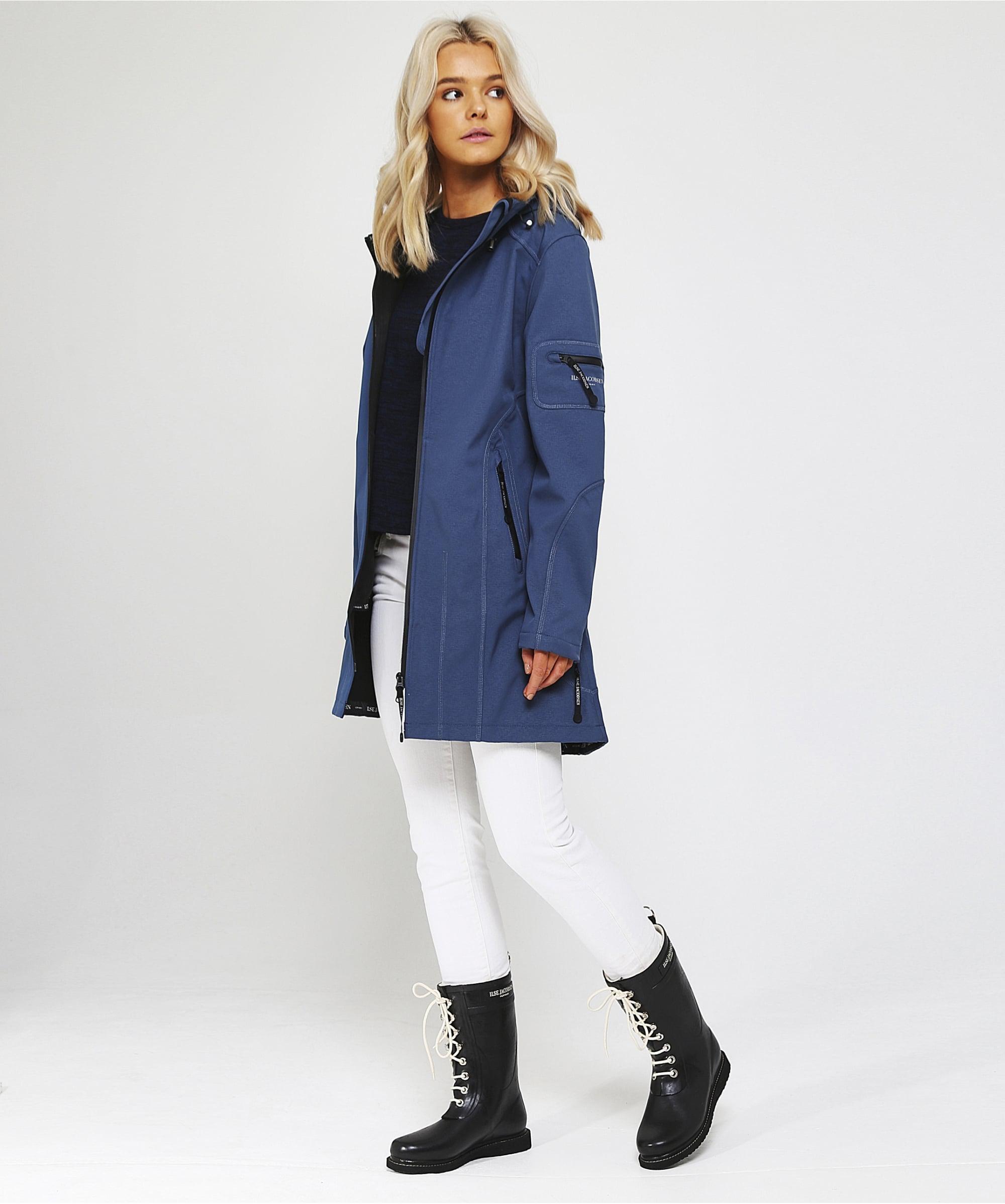 Ilse Jacobsen Synthetic Rain 07 Classic Raincoat In Blue